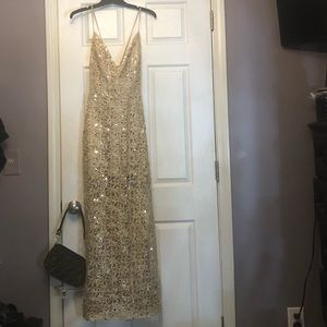 Very pretty gold maxi dress